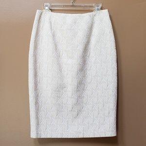 New York & Company geometric metallic pencil skirt